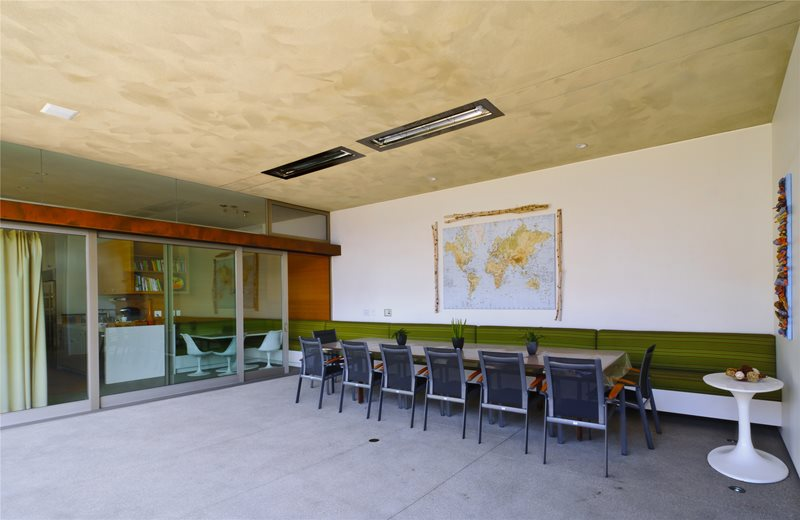 Indoor Outdoor Connection Concrete Patio Z Freedman Landscape Design Venice, CA