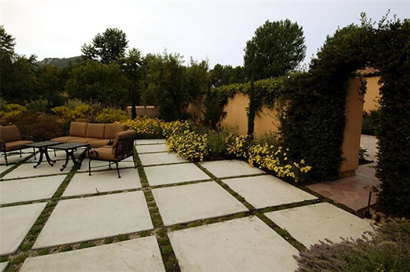 Concrete Patio Design Ideas concrete patio designs textured patio seat walls concrete patios amcon llc gaithersburg md slab patio design Patio Design Ideas Concrete Patio Sage Ecological Landscapes Los Osos Ca