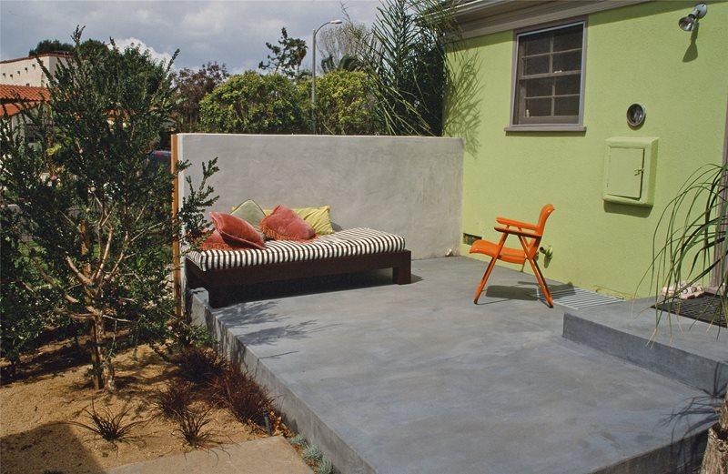 Patio Fin Wall Concrete Patio Maureen Gilmer Morongo Valley, CA