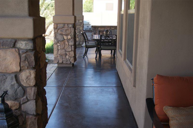 Stained Concrete Concrete Patio Alexon Design Group Gilbert, AZ