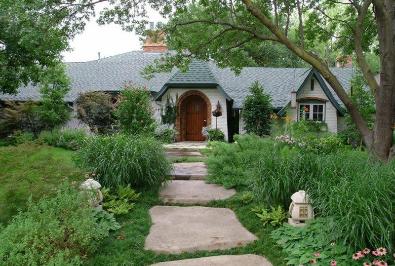 Front, Garden, Walkway, Concrete, Stone Concrete Paving Bonick Landscaping Dallas, TX