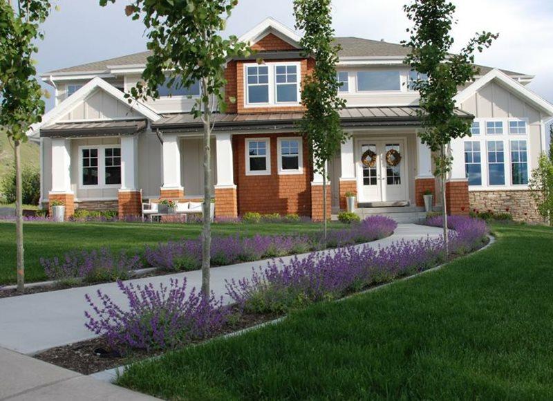 Front, Walkway, Curved, Concrete, Purple Concrete Paving Ag-Trac Enterprises Logan, UT