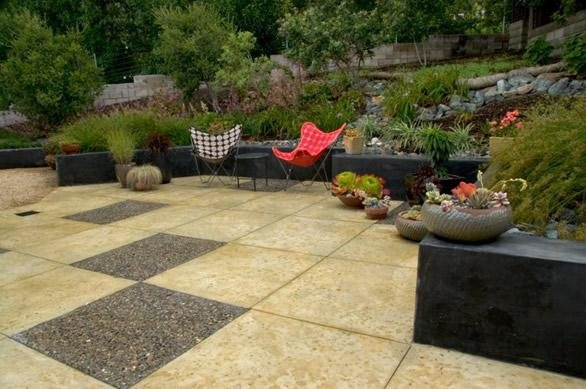 Modern Backyard Design Concrete Paving Jeffrey Gordon Smith Landscape  Architecture Los Osos, CA