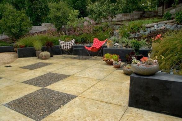 Modern Backyard Design Concrete Paving Jeffrey Gordon Smith Landscape Architecture Los Osos, CA
