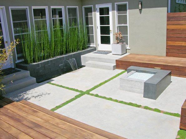 Modern, Concrete, Patio, Fire Feature Concrete Paving DC West Construction Inc. Carlsbad, CA