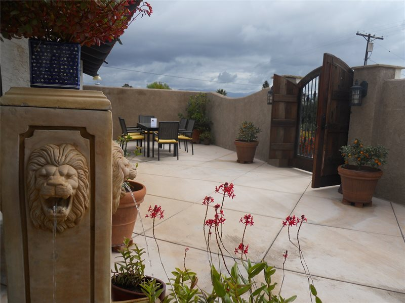Patio With Southwest Feel Concrete Paving Landscaping Network Calimesa, CA