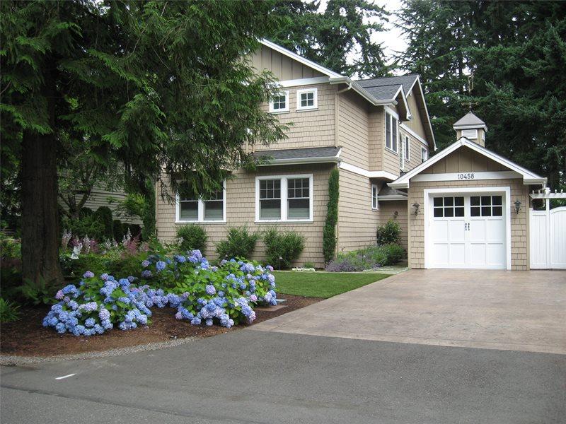 Stamped, Concrete, Driveway, Garage Concrete Paving Spring Greenworks Bellevue, WA