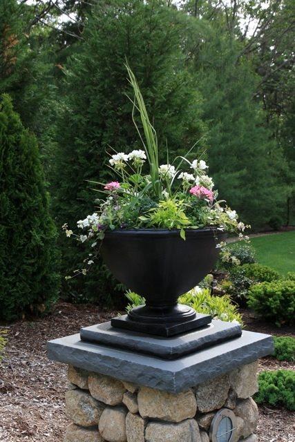 Black Urn Container Gardens Elaine M. Johnson Landscape Design Centerville, MA