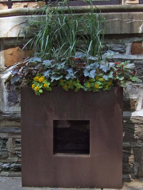 Square Planter Container Gardens Livable Landscapes Wyndmoor, PA