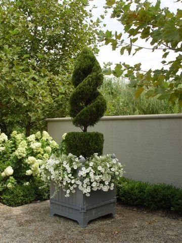 Topiary, French, Box, Pea Gravel Container Gardens Deborah Silver and Co. Sylvan Lake, MI
