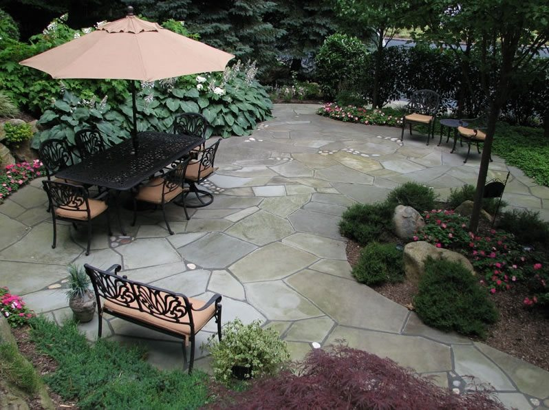 Crazy Paving Design Country Landscape Design Sitescapes Landscape Design Stony Brook, NY