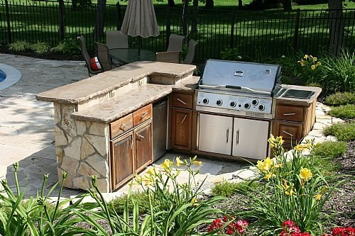Country landscape design macedon ny photo gallery for Country outdoor kitchen
