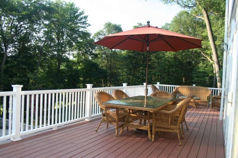 Deck And Railing Country Landscape Design Neave Group Outdoor Solutions Wappingers Falls, NY