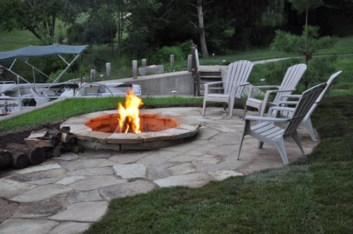Lakeside Fire Pit Country Landscape Design Landscape Saint Louis St. Louis, MO