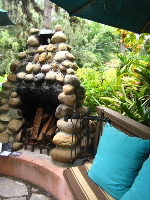 Outdoor Fireplace Country Landscape Design Landscaping Network Calimesa, CA