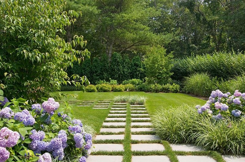 Pavers, Purple, Grass Country Landscape Design Barry Block Landscape Design & Contracting East Moriches, NY