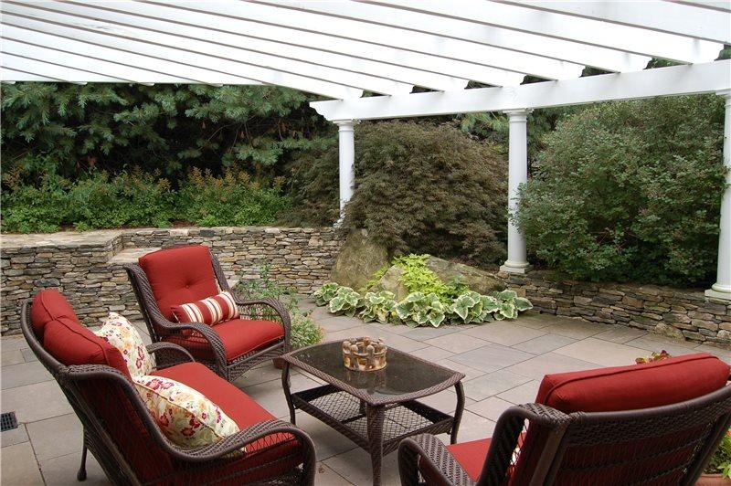 Sunken Patio Country Landscape Design Fieldstone Design Leominster, MA