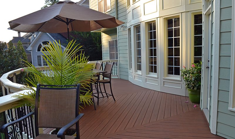 Attached Deck, Brown Deck, Deck Rails Deck Design Peach Tree Decks & Porches Atlanta, GA