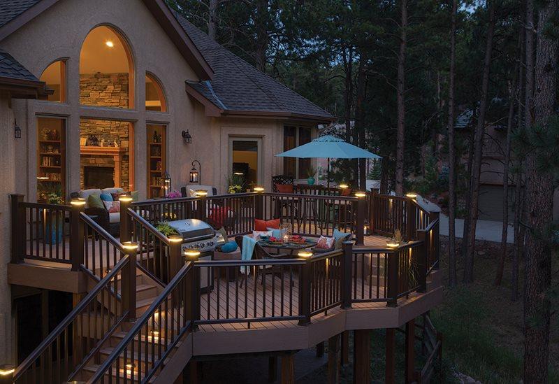 Deck Lighting, Stair Riser Lights, Post Cap Lights Deck Design TimberTech Wilmington, OH