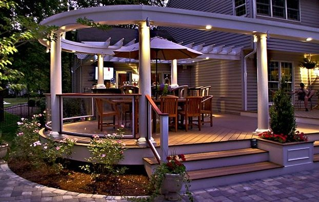 Elevated Dining Deck Deck Design Walnut Hill Landscape Company Annapolis, MD