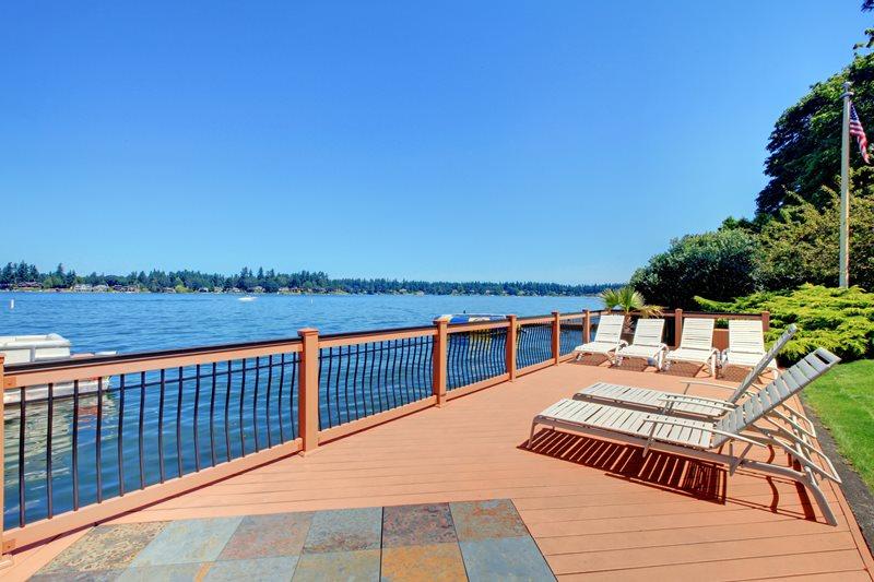 Lakeside Deck, Composite Deck, Composite Railing Deck Design Landscaping Network Calimesa, CA