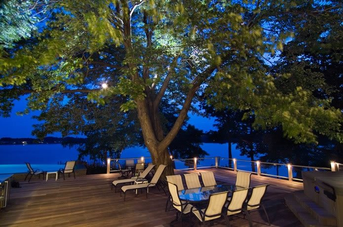 Large Deck, Deck Lighting Deck Design Walnut Hill Landscape Company Annapolis, MD