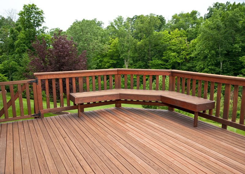 Narrow Deck Boards, Built In Bench Deck Design Landscaping Network Calimesa, CA