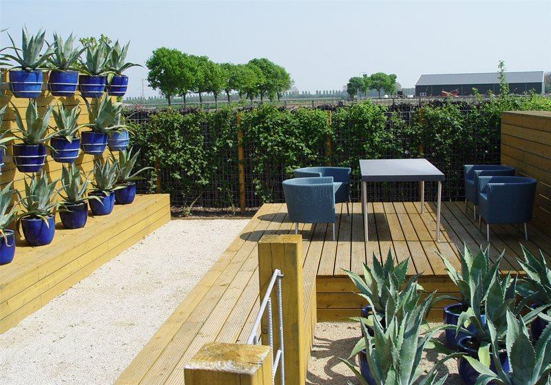 Raised Deck Deck Design Maureen Gilmer Morongo Valley, CA