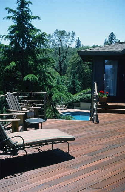 Wood Deck Deck Design Maureen Gilmer Morongo Valley, CA
