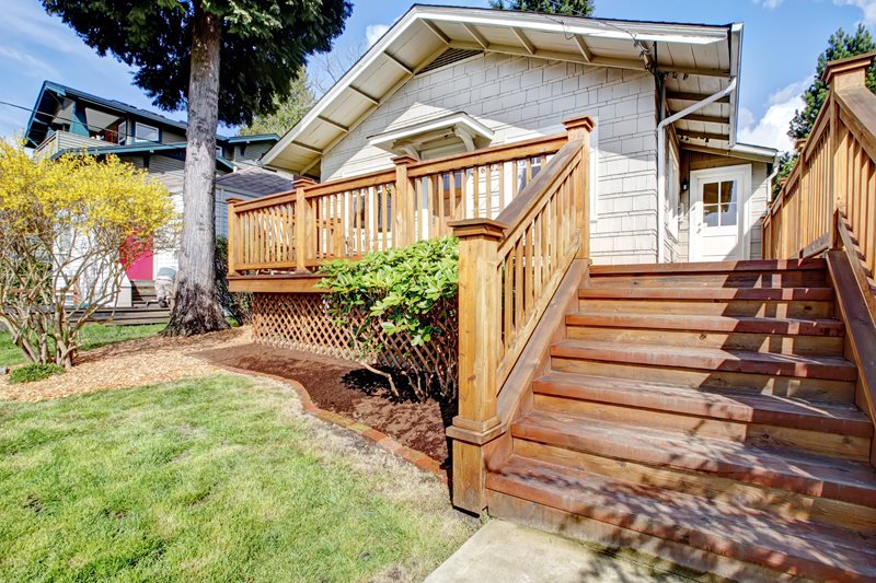 Wood Deck Stairs Deck Design Landscaping Network Calimesa, CA