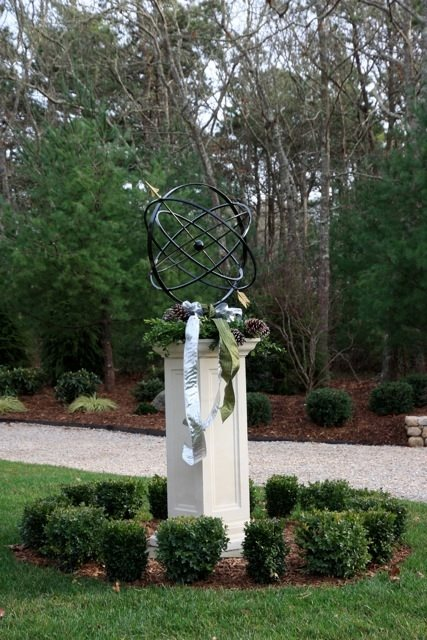 Armillary Sphere Decor and Accessory Elaine M. Johnson Landscape Design Centerville, MA