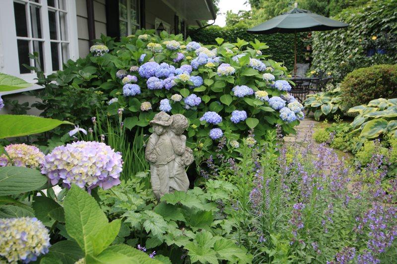 Garden, Hydrangeas, Statue Decor and Accessory Conte & Conte, LLC Greenwich, CT