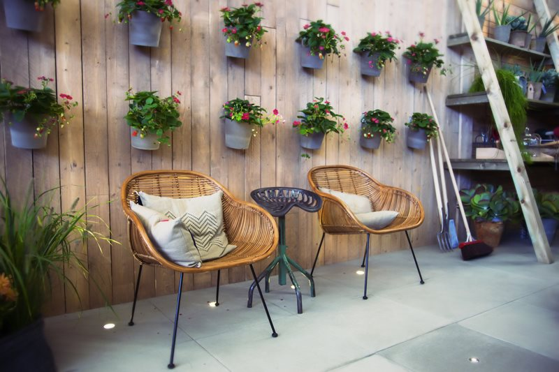 Hanging Wall Planters, Retro Chairs Decor and Accessory Landscaping Network Calimesa, CA