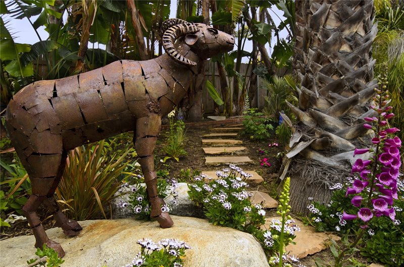 Sculpture, Metal, Ram Decor and Accessory Landscaping Network Calimesa, CA