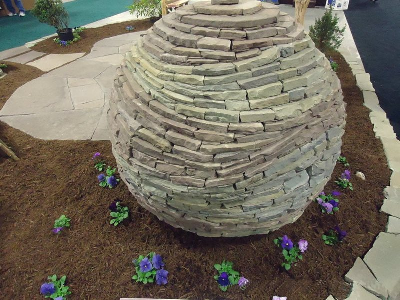Stone Garden Sphere Decor and Accessory Devine Escapes Schwenksville, PA