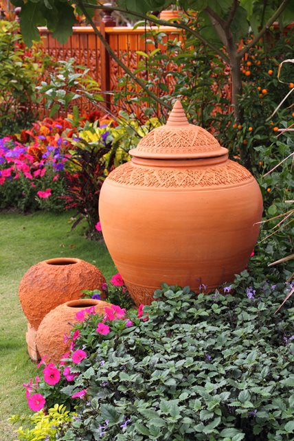 Terra Cotta Garden Pottery Decor and Accessory Landscaping Network Calimesa, CA