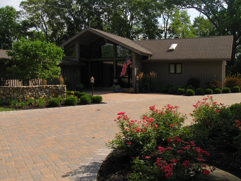 Brown Paver Driveway Driveway The Site Group, Inc. New Carlisle, OH
