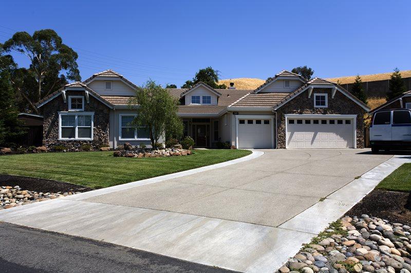Concrete Driveway Apron Driveway Landscaping Network Calimesa, CA