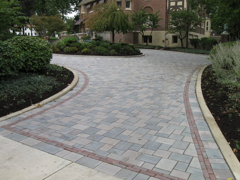 Gray Paver Driveway, Paver Driveway Border Driveway The Site Group, Inc. New Carlisle, OH
