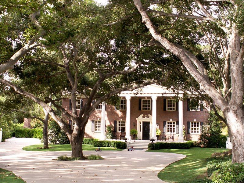 Large Driveway With Trees Driveway Grace Design Associates Santa Barbara, CA