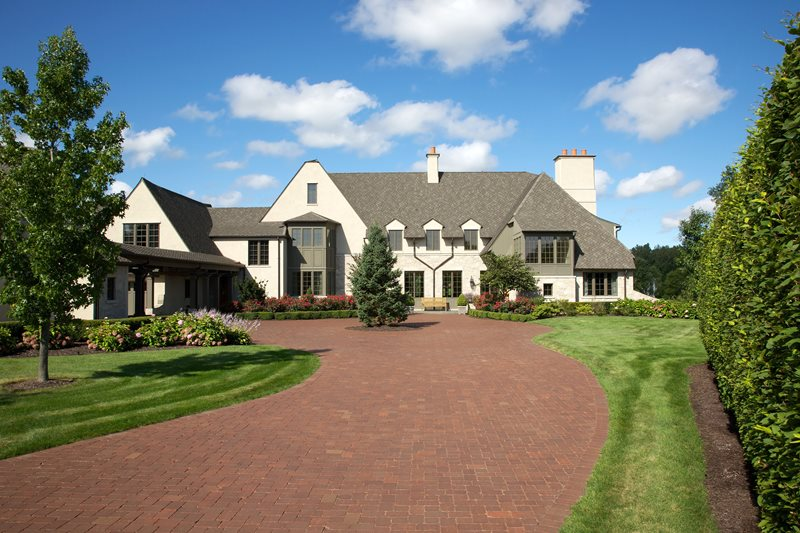 Red Paver Driveway Driveway Small's Landscaping Inc Valparaiso, IN