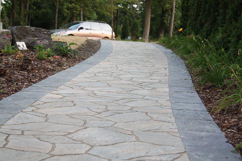 Stone Paver Driveway Driveway LADS-Landview Architectural Design Sequences Burlington, ON