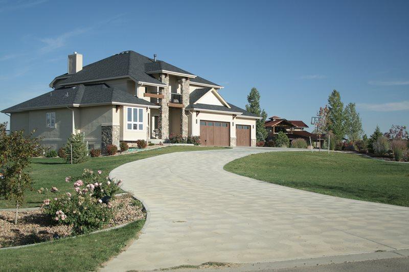 Troweled Concrete Driveway Driveway Landscaping Network Calimesa, CA