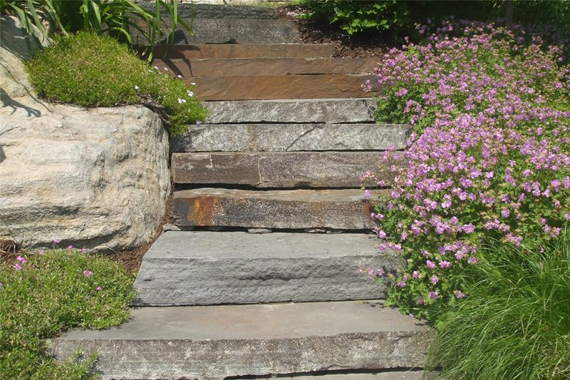 Bluestone Treads Entryways, Steps and Courtyard Natures View Sloatsburg, NY