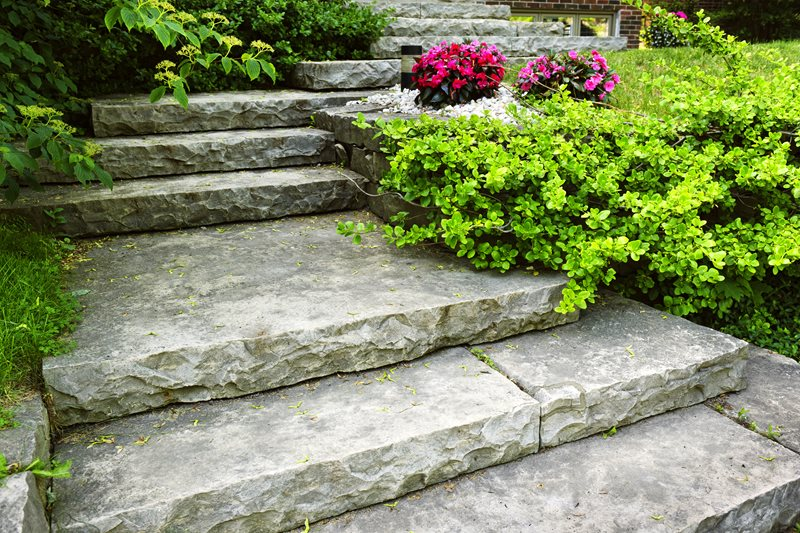 Chiseled Stone Steps Entryways, Steps and Courtyard Landscaping Network Calimesa, CA