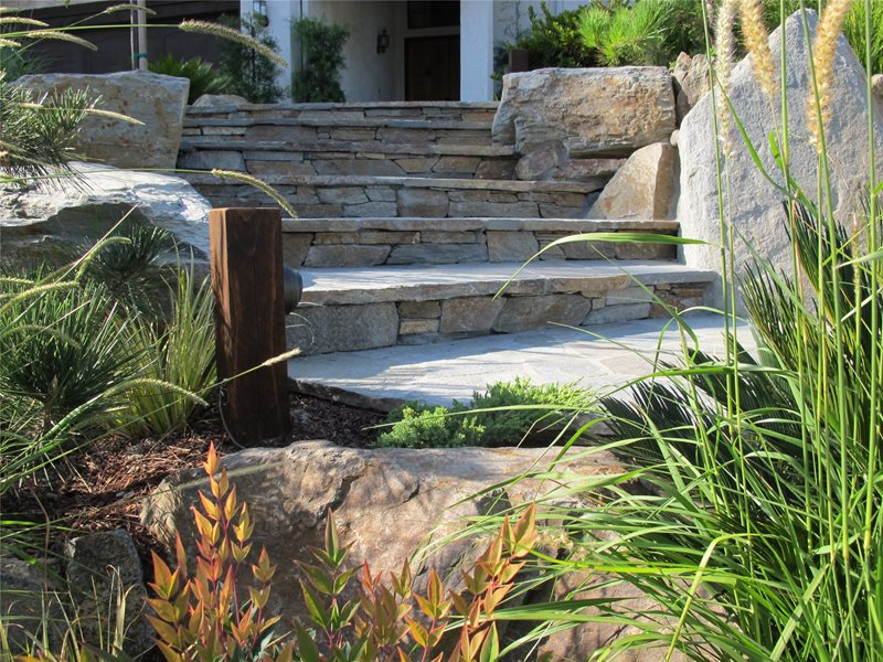 Entryways, Steps and Courtyard Falling Waters Landscape, Inc San Diego, CA
