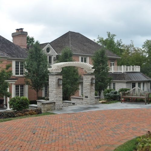 Front Yard Entry Entryways, Steps and Courtyard Milieu Design Wheeling, IL