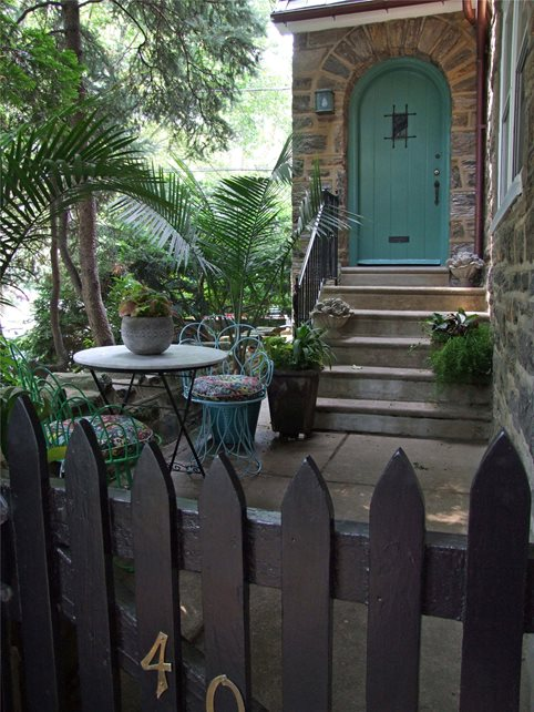Garden Porch Entryways, Steps and Courtyard Livable Landscapes Wyndmoor, PA