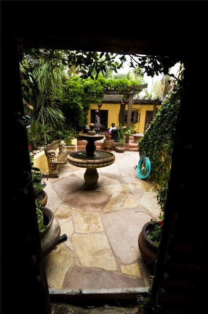 Large Courtyard With Fountain Entryways, Steps and Courtyard Landscaping Network Calimesa, CA