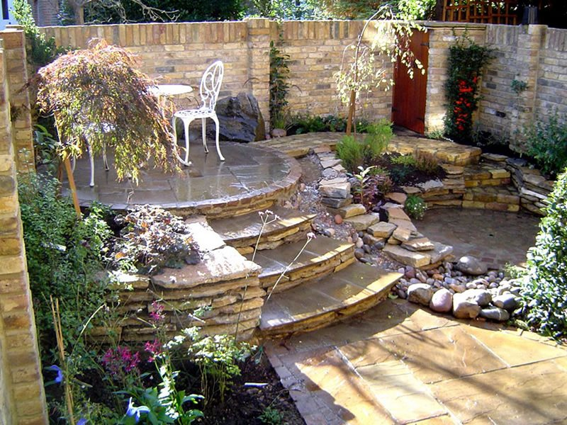 Entryways steps and courtyard charlotte nc photo for Courtyard landscaping pictures